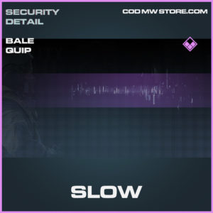 Slow bale quip epic call of duty modern warfare warzone item