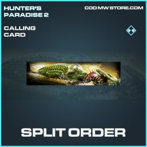 Split order calling card rare call of duty modern warfare warzone item
