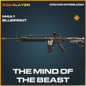 The mind of the beast m4a1 skin legendary blueprint call of duty modern warfare warzone item