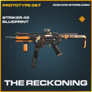 The Reckoning striker 45 skin legendary blueprint call of duty modern warfare warzone item