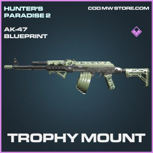Trophy Mount Ak-47 skin epic blueprint call of duty modern warfare warzone item