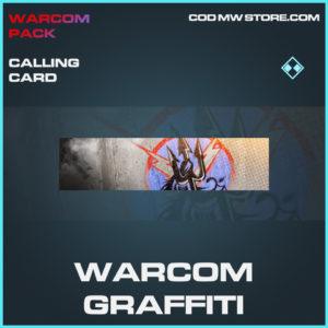Warcom Graffiti calling card rare call of duty modern warfare warzone item