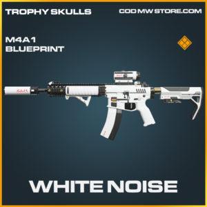 White Noise M4A1 skin legendary blueprint call of duty modern warfare warzone item
