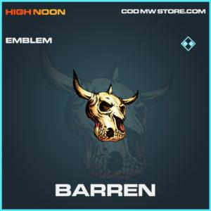 Barren emblem rare call of duty modern warfare warzone item