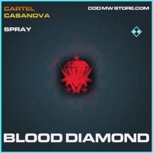 BLood Diamond spray rare call of duty modern warfare warzone item
