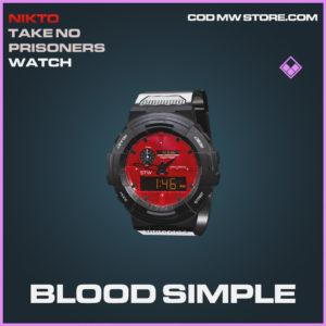 Blood Simple watch epic call of duty modern warfare warzone item