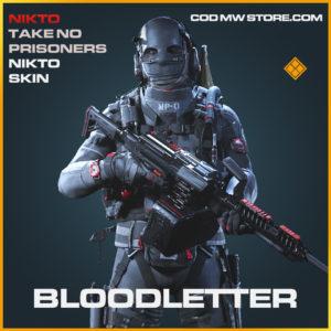 Bloodletter nikto skin legendary call of duty modern warfare warzone item