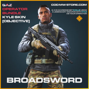 Broadsword Kyle objective mission skin legendary call of duty modern warfare warzone item