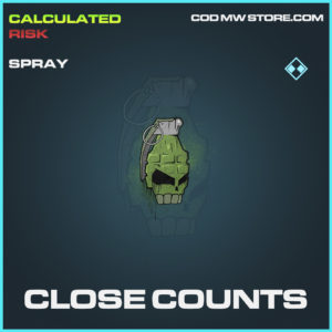 CLose Counts spray rare call of duty modern warfare warzone item