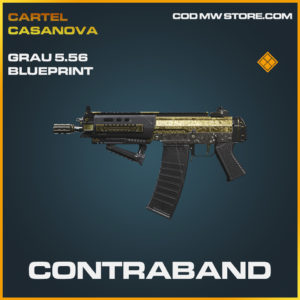 Contraband grau 5.56 skin legendary blueprint call of duty modern warfare warzone item