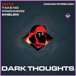 Dark Thoughts emblem epic call of duty modern warfare warzone item