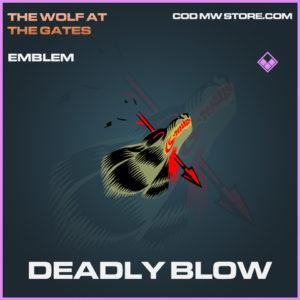 Deadly Blow emblem epic call of duty modern warfare warzone item