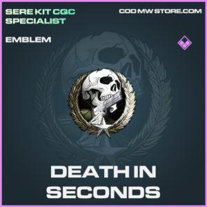 Death in Seconds emblem epic call of duty modern warfare warzone item