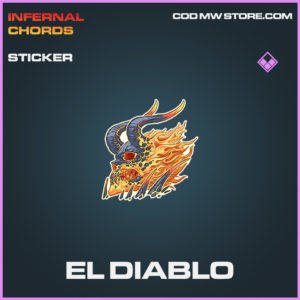 El Diablo sticker epic call of duty modern warfare warzone item
