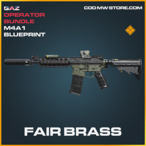 Fair Brass M4A1 skin legendary blueprint call of duty modern warfare warzone item