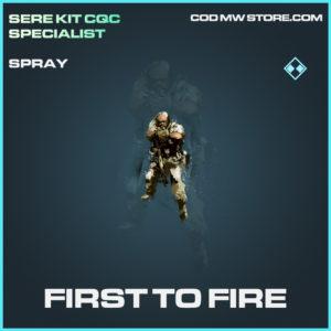 First to Fire Spray rare call of duty modern warfare warzone item