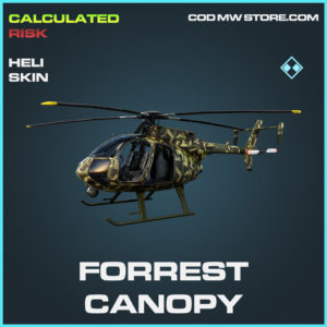 Forrest Canopy heli skin rare call of duty modern warfare warzone item