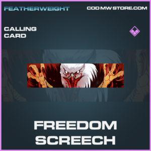 Freedom Screech calling card epic call of duty modern warfare warzone item