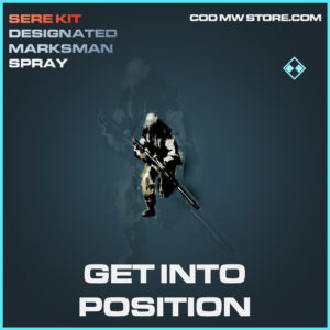 Get Into Position rare spray call of duty modern warfare warzone item