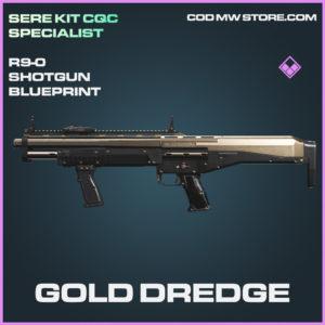 Gold Dredge R9-0 Shotgun skin epic blueprint call of duty modern warfare warzone item