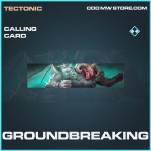 Groundbreaking calling card rare call of duty modern warfare warzone item