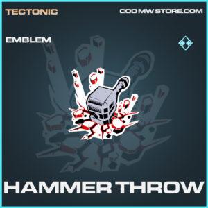 Hammer Throw emblem rare call of duty modern warfare warzone item