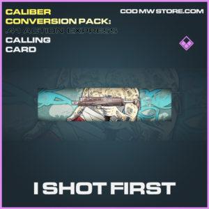 I Shot First epic calling card call of duty modern warfare warzone item