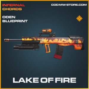 Lake of Fire oden blueprint legendary skin call of duty modern warfare warzone item