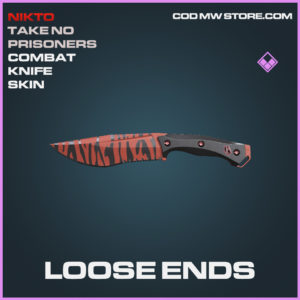 Loose ends combat knife skin epic call of duty modern warfare warzone item