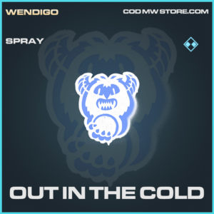 Out in the cold spray rare call of duty modern warfare warzone item