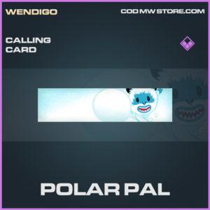 Polar Pal Calling card epic call of duty modern warfare warzone item