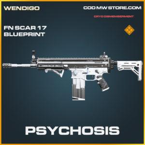 Psychosis FN Scar 17 skin legendary blueprint call of duty modern warfare warzone item