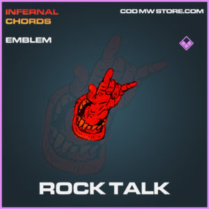 Rock Talk emblem epic call of duty modern warfare warzone item