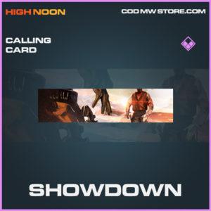 Showdown calling card epic call of duty modern warfare warzone item