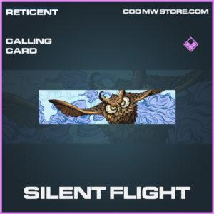Silent Flight calling card epic call of duty modern warfare warzone item