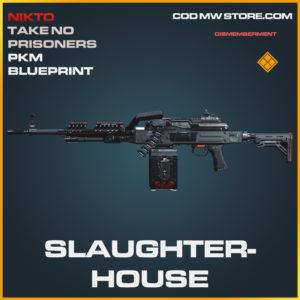 Slaughterhouse PKM skin legendary blueprint call of duty modern warfare warzone item