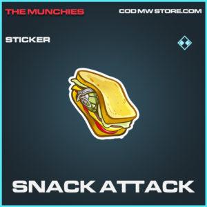 Snack Attack sticker rare call of duty modern warfare warzone item
