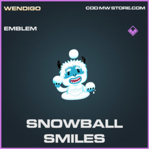 Snowball Smiles emblem epic call of duty modern warfare warzone item
