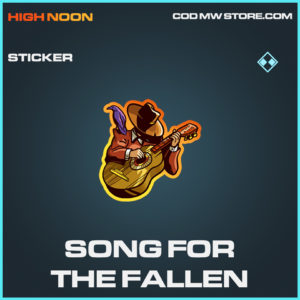 Song for the Fallen sticker rare call of duty modern warfare warzone item