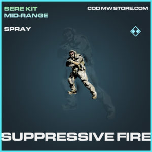 Suppressive Fire spray rare call of duty modern warfare warzone item