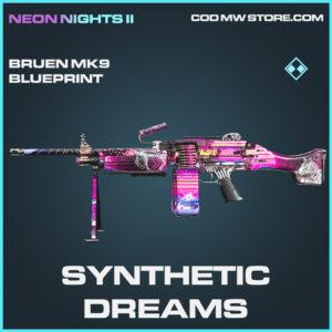 Synthetic Dreams bruen mk9 skin rare call of duty modern warfare warzone item
