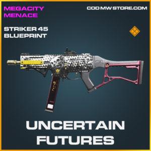 Uncertain Futures striker-45 skin legendary blueprint call of duty modern warfare warzone item