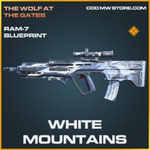 White Mountains RAM-7 skin legendary blueprint call of duty modern warfare warzone item