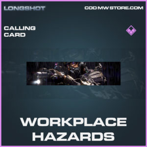 Workplace hazards calling card epic call of duty modern warfare warzone item