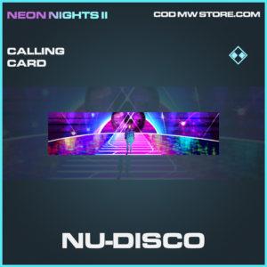 Nu-Disco calling card rare call of duty modern warfare warzone item