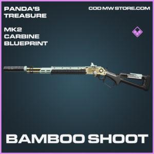 Bamboo SHoot Mk2 Carbine blueprint epic call of duty modern warfare warzone item