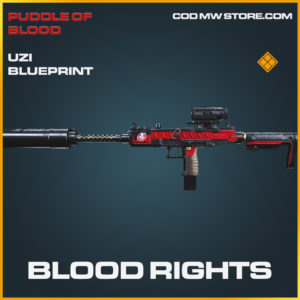 Blood Rights Uzi skin legendary blueprint call of duty modern warfare warzone item
