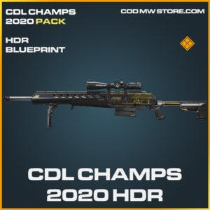 CDL Champs 2020 HDR skin legendary blueprint call of duty modern warfare warzone item