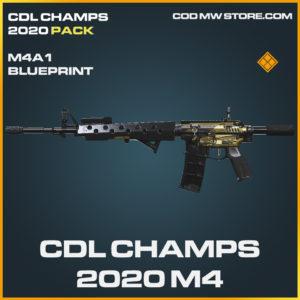 CDL Champs 2020 M4 M4A1 skin legendary blueprint call of duty modern warfare waronze item
