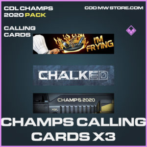 Champs Calling Cards X3 CDL Champs 2020 call of duty modern warfare warzone items